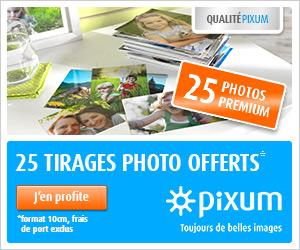 25 tirages photo gratuits ! Cliquez ici !