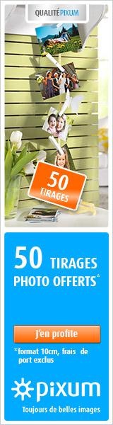 50 tirages photo gratuits ! Cliquez ici !