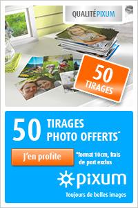 50 tirages photo offerts chez Pixum