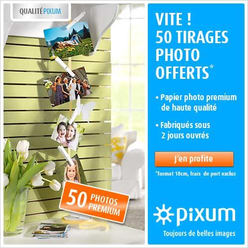 50 tirages photo offerts avec Pixum jusqu'au 30/04/2013