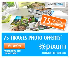 75 tirages gratuits avec Pixum