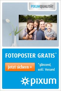 Foto-Poster gratis von Pixum! Hier klicken!