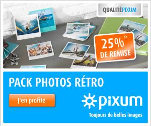25% sur photos rétro